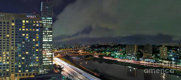 Photograph - Sao Paulo - Modern Skyline - Brooklin District - Pinheiros River by Carlos Alkmin