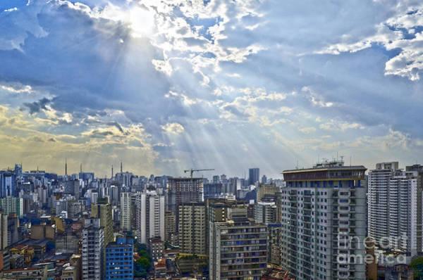 Photograph - Sao Paulo - Raios Divinos Sobre O Paliteiro by Carlos Alkmin