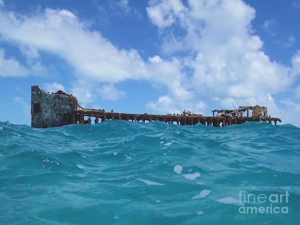 Ship Wreck Photograph - Sapona Bahamas by Carey Chen