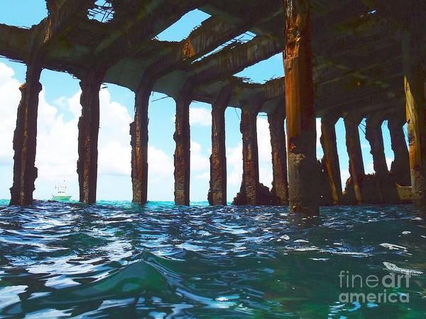 Ship Wreck Photograph - Sapona Bimini by Carey Chen
