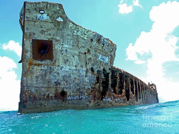 Andros Photograph - Sapona Ship Wreck by Carey Chen