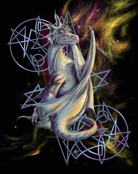 Nebulae Painting - Sar Dragon by MGL Meiklejohn Graphics Licensing