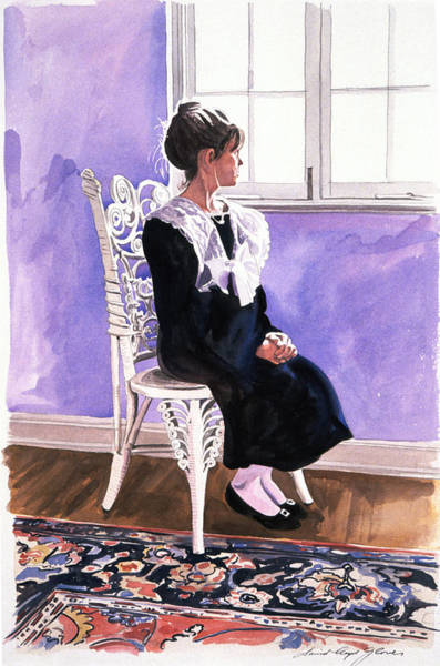 Lace Painting - Sara Foster - Bird Watching by David Lloyd Glover