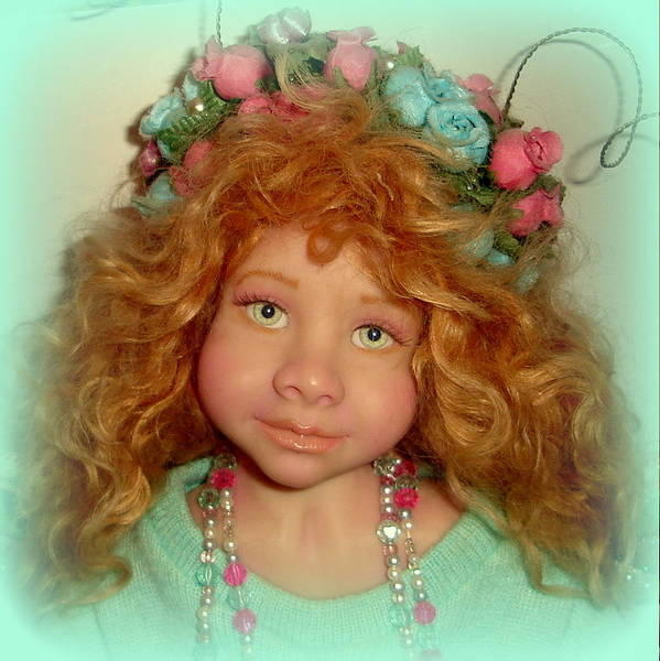 Polymer Clay Photograph - Sara The Butterfly Fairy Doll by Anne-Marie Brombal