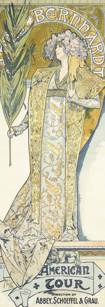 Alphonse Mucha Painting - Sarah Bernhardt by Alphonse Marie Mucha
