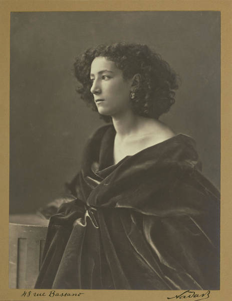 Wall Art - Drawing - Sarah Bernhardt Nadar Gaspard Félix Tournachon by Litz Collection