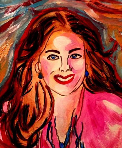 Painting - Sarah M Be Happy by Nikki Dalton