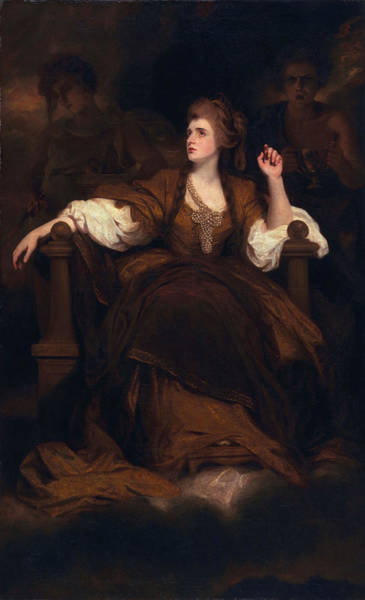 Theatrical Painting - Sarah Siddons As The Tragic Muse by Sir Joshua Reynolds