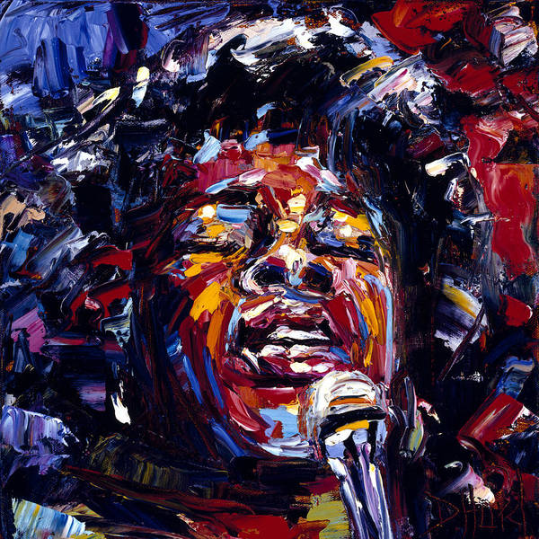 Wall Art - Painting - Sarah Vaughan Jazz Face Series by Debra Hurd
