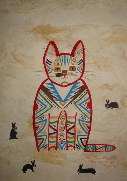 Sarah's Cat Art Print