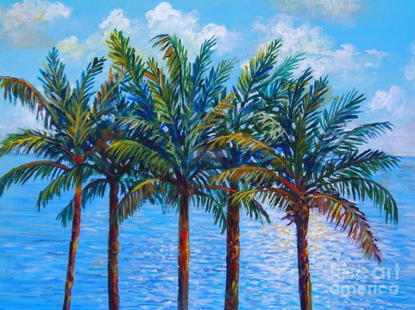 Wall Art - Painting - Sarasota Palms by Lou Ann Bagnall