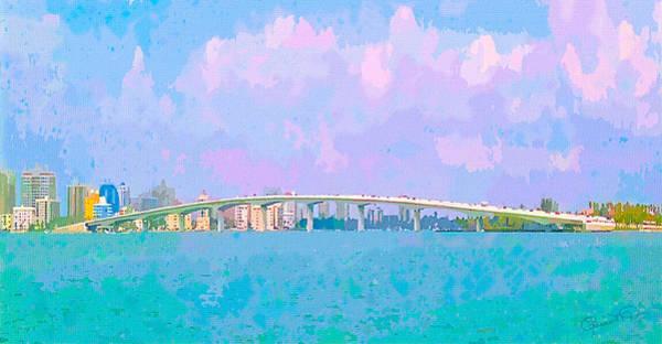 Photograph - Sarasota Via Ringling Bridge by Susan Molnar