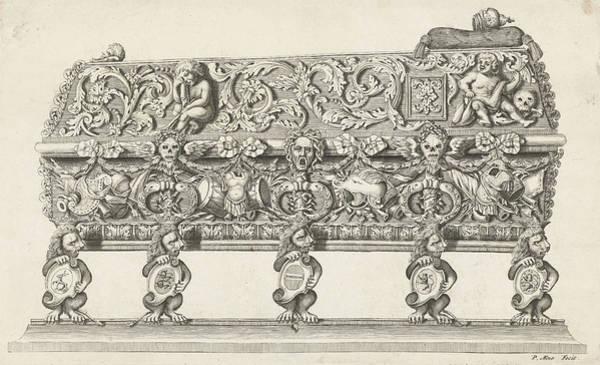 Wall Art - Drawing - Sarcophagus Hendrik Casimir II Side Decorated by Artokoloro