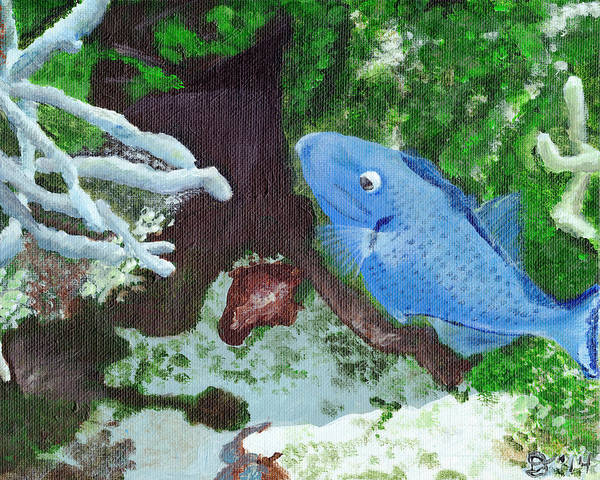 Painting - Sargassum Trigger by Davend Dominick