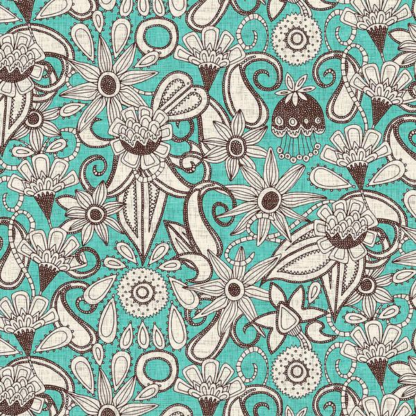 Wall Art - Painting - Sarilmak Mint Brown by MGL Meiklejohn Graphics Licensing