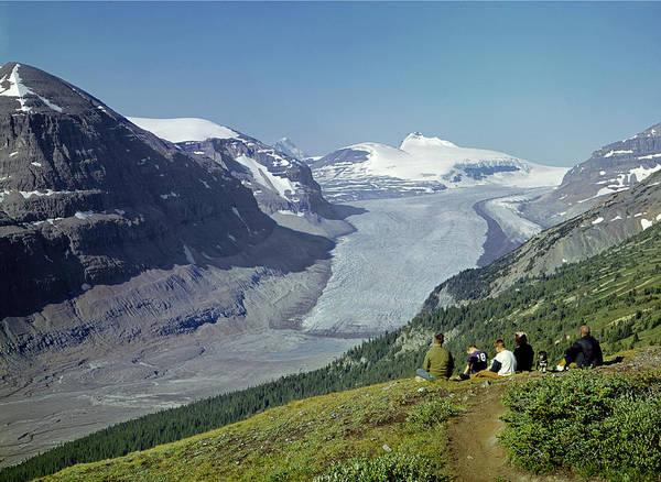 Photograph - 1m3617-saskatchewan Glacier In 1971 by Ed  Cooper Photography