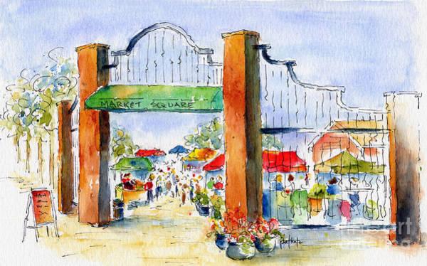 Painting - Saskatoon Farmers' Market by Pat Katz