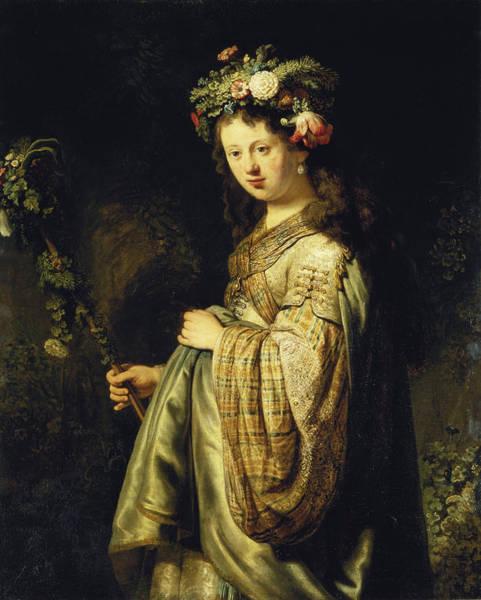 Painting - Saskia As Flora by Celestial Images