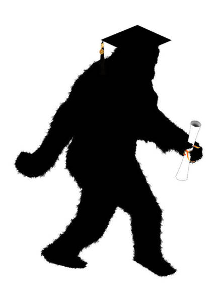 Graduation Digital Art - Sasquatch Gone Graduating  by Gravityx9   Designs