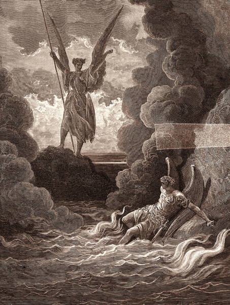 Dor Drawing - Satan And Beelzebub, By Gustave DorÉ. Dore by Litz Collection