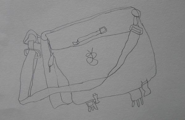 Drawing - Satchel by AJ Brown