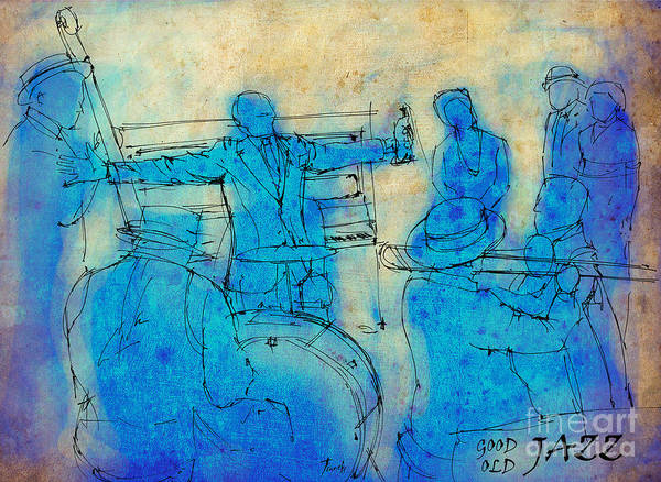 Louis Mixed Media - Satchmo And Billie by Drawspots Illustrations
