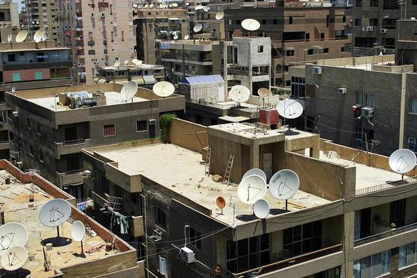 Satellite Dish Photograph - Satellite Dishes On City Rooftops by Peter Menzel/science Photo Library
