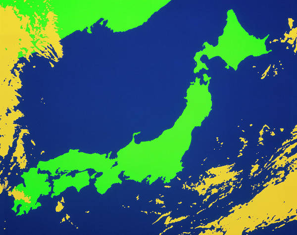 Wall Art - Photograph - Satellite Image Of Japan by Science Photo Library/colouring By John Wells
