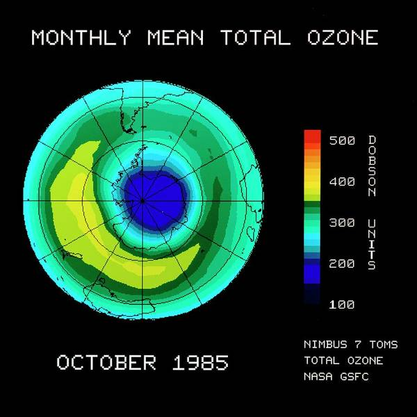 Ozone Layer Photograph - Satellite Map Of Antarctic Upper Ozone Levels by Nasa Gsfc/science Photo Library