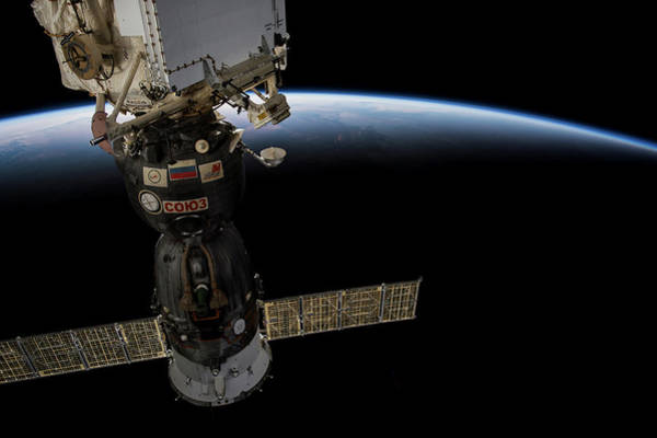 Iss Photograph - Satellite Over Earth by Panoramic Images