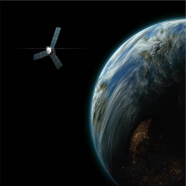 Satellite Planet No.2 Art Print