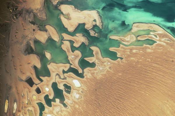 Balkan Peninsula Photograph - Satellite View Of Balkan Coastal Area by Panoramic Images