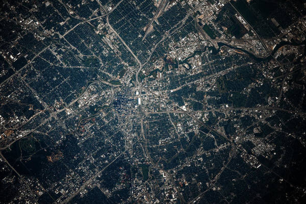 Iss Photograph - Satellite View Of Houston, Texas, Usa by Panoramic Images