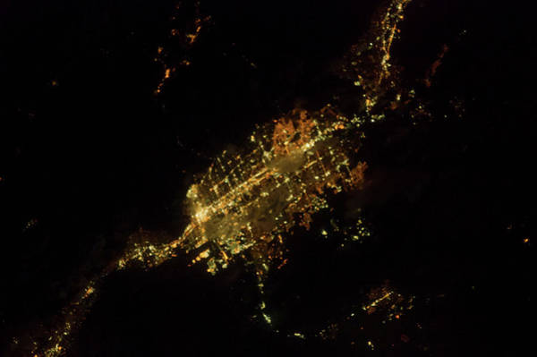 Satellite Image Wall Art - Photograph - Satellite View Of Las Vegas, Nevada, Usa by Panoramic Images