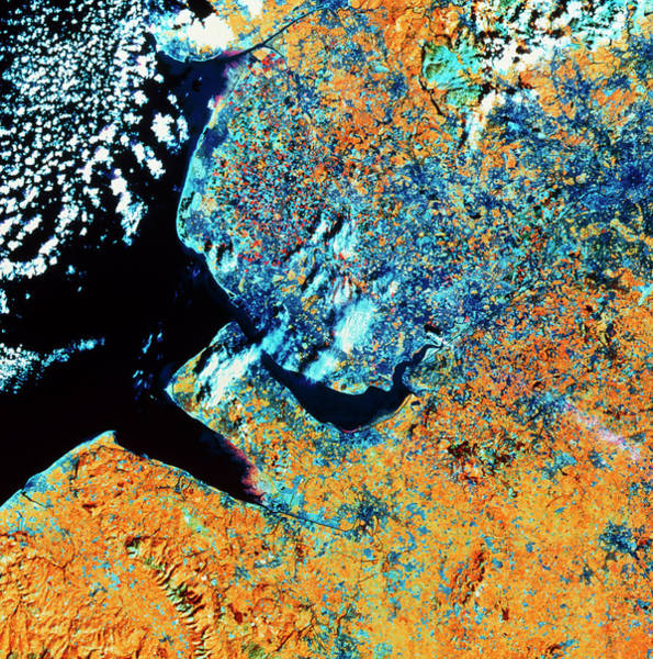 Greater Manchester Wall Art - Photograph - Satellite View Of Liverpool/manchester Region by Nrsc Ltd/science Photo Library