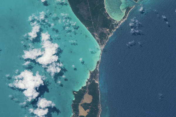 Physical Features Wall Art - Photograph - Satellite View Of North Eleuthera by Panoramic Images
