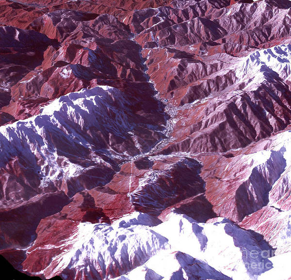 Photograph - Satellite View Of Sochi Winter Olympics by Science Source