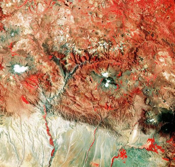 Wall Art - Photograph - Satellite View Of The Source Of The Amazon by Mda Information Systems/science Photo Library