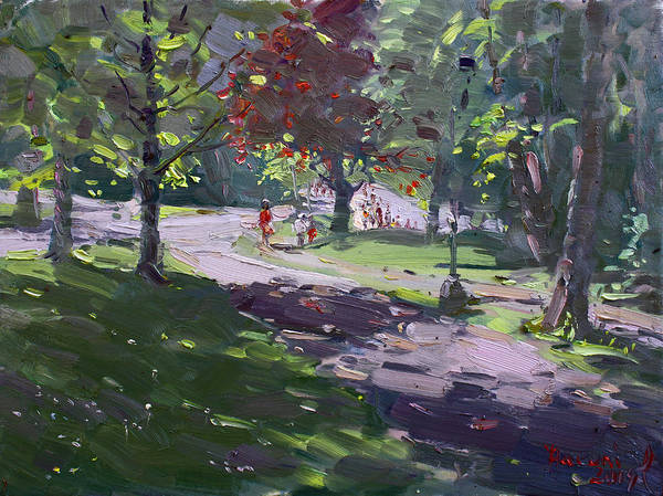 Goat Painting - Saturday In The Park by Ylli Haruni