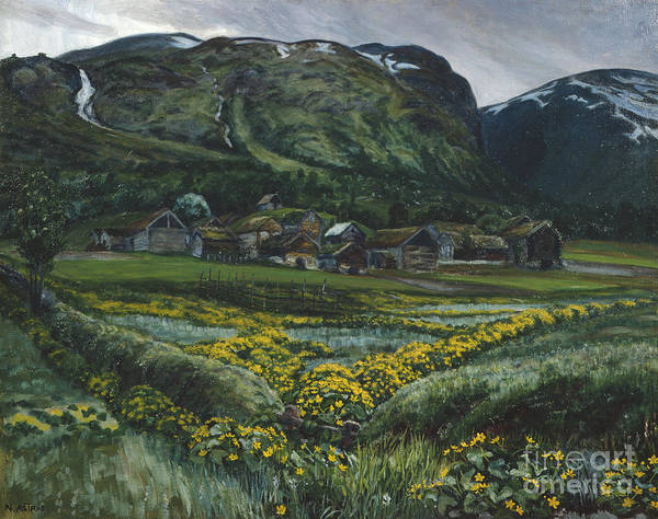 Nikolai Astrup Painting - Saturday Night And Buttercups by Nikolai Astrup