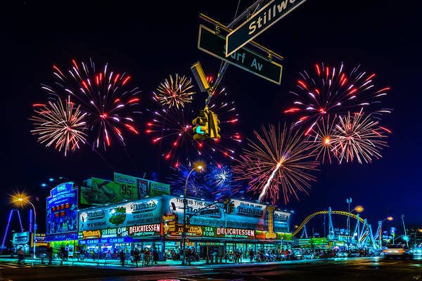Photograph - Saturday Night At Coney Island by Chris Lord