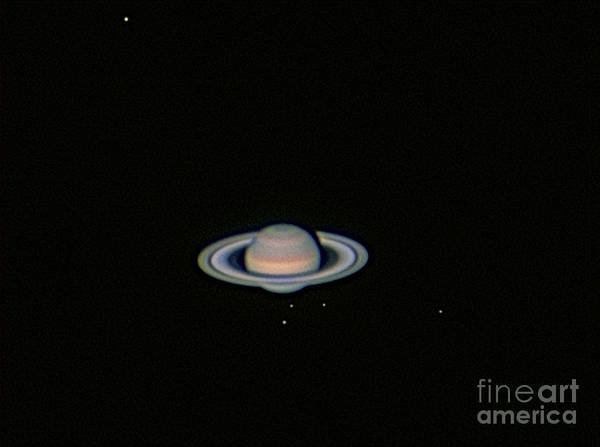 Dione Photograph - Saturn & Five Moons by John Chumack
