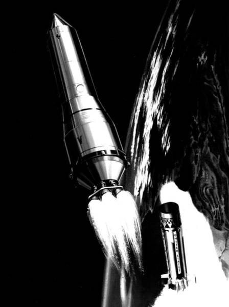 Rare Earth Wall Art - Photograph - Saturn 1 Missile  by Retro Images Archive