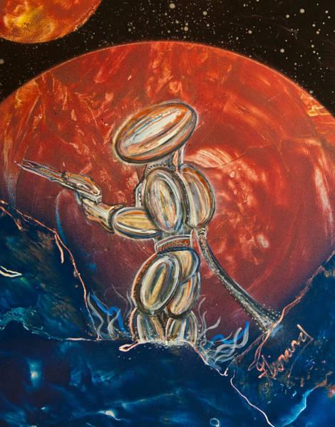 Painting - Saturn 7 by Jason Girard