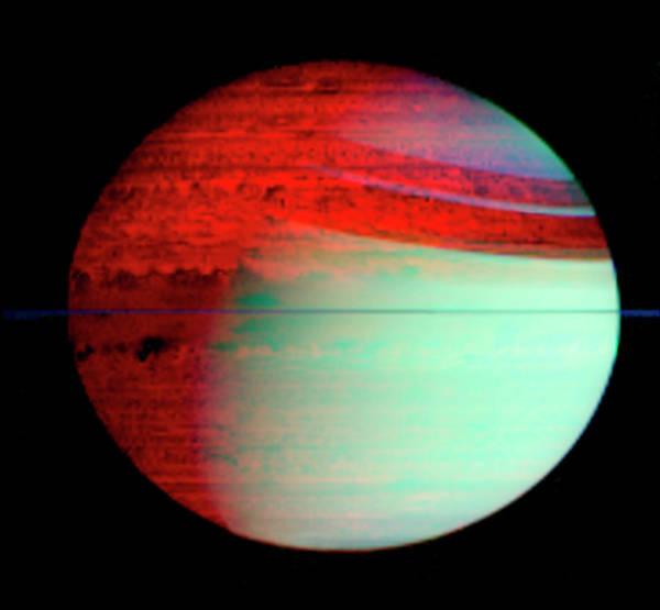 Ir Photograph - Saturn by Nasa/jpl/u. Arizona/science Photo Library