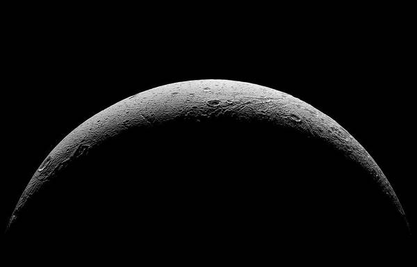 Dione Photograph - Saturn's Moon Dione by Nasa/jpl-caltech/space Science Institute/science Photo Library