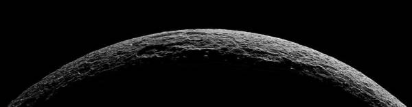 Dione Photograph - Saturn's Moon Dione by Nasa/science Photo Library