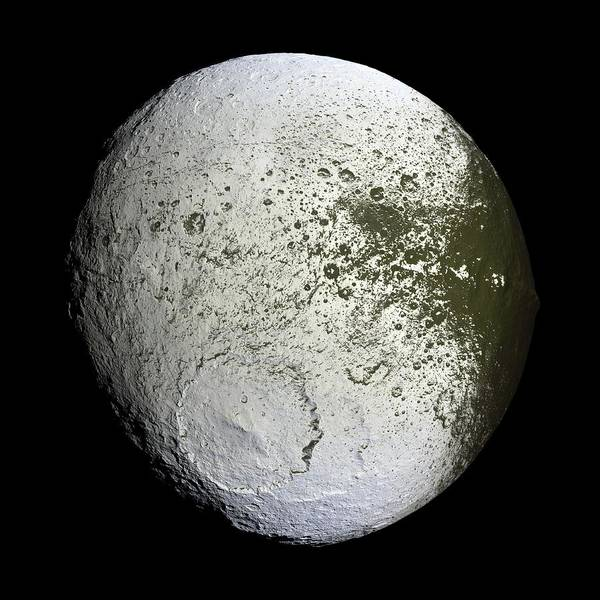 Wall Art - Photograph - Saturn's Moon Iapetus by Nasa/jpl/space Science Institute/science Photo Library