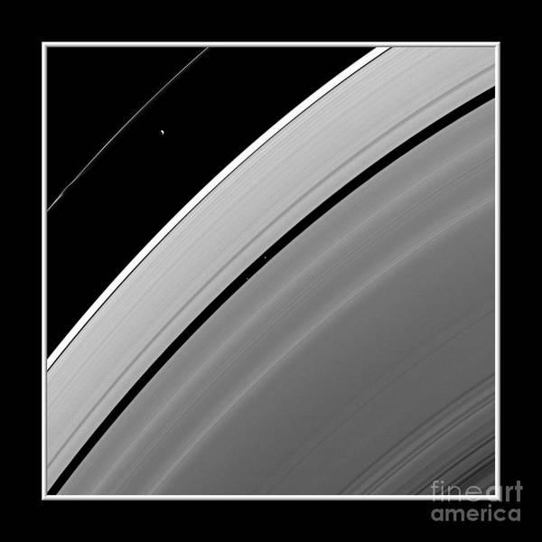 Photograph - Saturns Rings And Moons Nasa by Rose Santuci-Sofranko