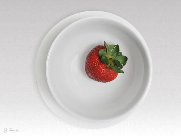 Wall Art - Photograph - Saucer Bowl And Strawberry by Joe Bonita